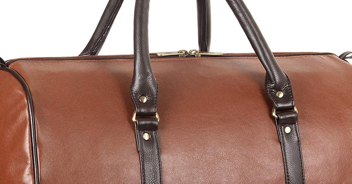 Read more about the article The Clownfish Browny 36 liters Faux Leather Travel Duffle Bag