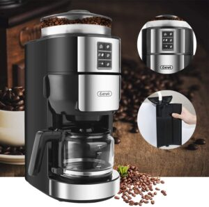 Read more about the article Grind and Brew Coffee Maker with Grinder, Gevi 5-Cup Programmable Coffee Maker