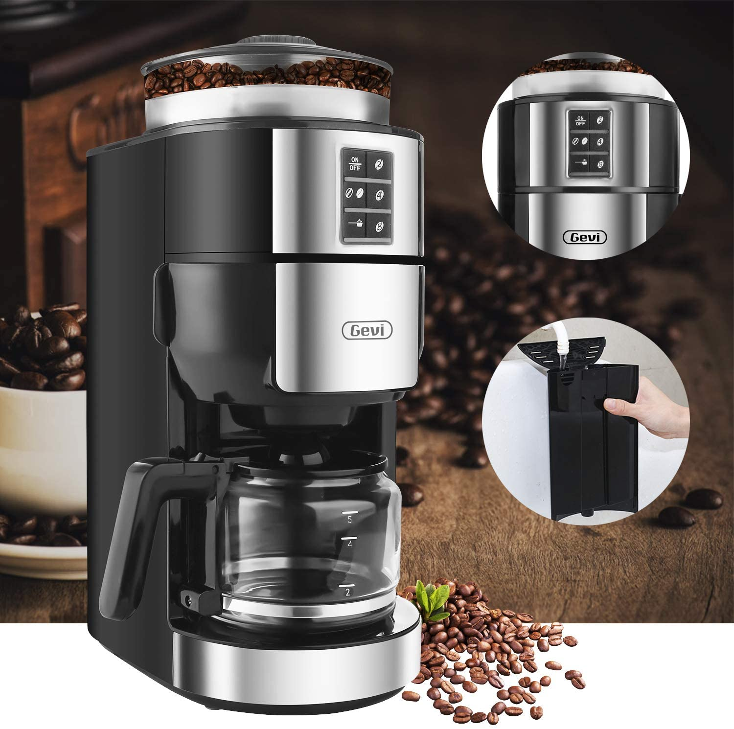 You are currently viewing Grind and Brew Coffee Maker with Grinder, Gevi 5-Cup Programmable Coffee Maker