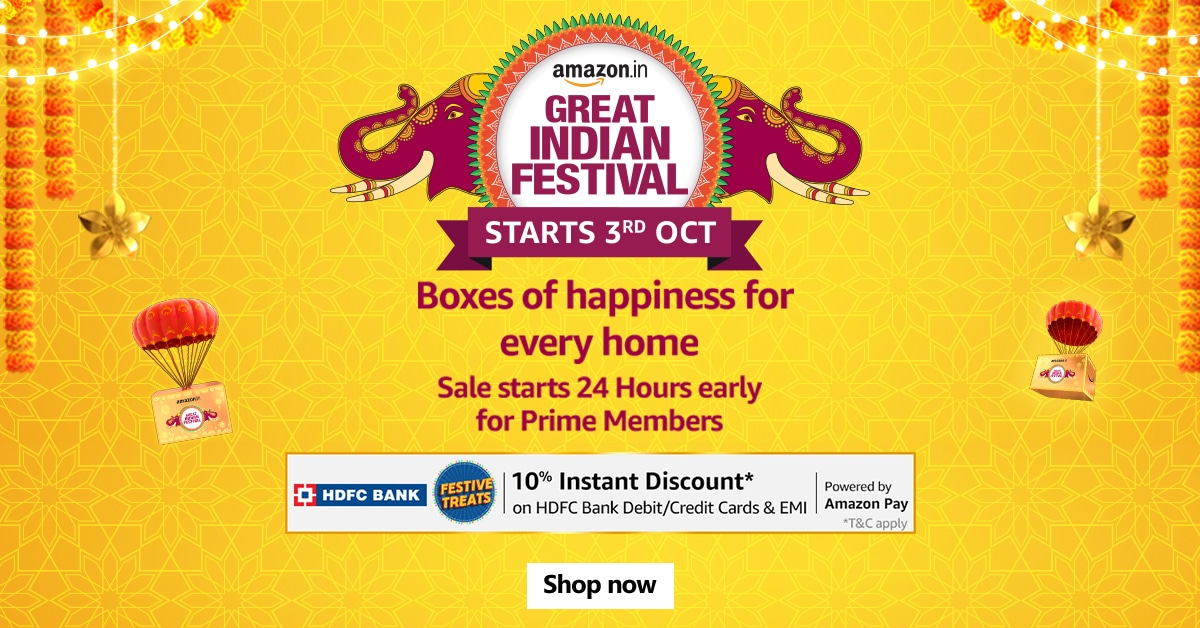 You are currently viewing Amazon Great Indian Festival Sale 2021 Dates