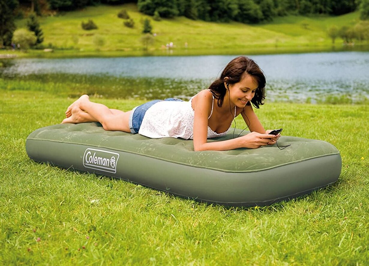You are currently viewing Coleman Single Synthetic Inflatable Airbed for Indoor and Outdoor Use (Green)